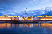 Australia House Framed Prints - Parliament House Canberra Australia Framed Print by Colin and Linda McKie