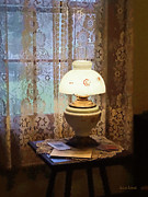 Hurricane Lamp Prints - Parlor With Hurricane Lamp Print by Susan Savad