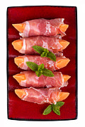 Appetizer Prints - Parma ham and melon Print by Jane Rix