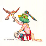Hopi Mixed Media Prints - Parrot Brotherhood Print by Dalton James