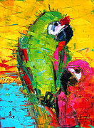 Emona Framed Prints - Parrot Lovers Framed Print by EMONA Art