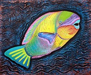 Sea Creatures Mixed Media - Parrotfish by Laura Barbosa
