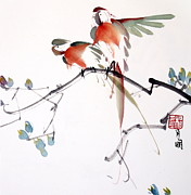 Ming Yeung - Parrots in pair
