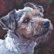Pet Art Painting Framed Prints - Parson Russell Terrier Framed Print by Lee Ann Shepard