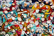 Berlin Art Photos - Part of Berlin Wall with graffiti and chewing gums  by Michal Bednarek