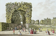 Part Of The Garden At Ausgarten Print by Johann Ziegler