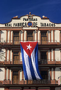Cigars Posters - Partagas Cigar Factory Poster by James Brunker