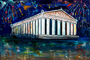 Nashville Painting Originals - Parthenon - Nashville by Olga Alexeeva