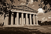 Nashville Tennessee Metal Prints - Parthenon in Sepia 1 Metal Print by Douglas Barnett