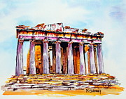Acropolis Prints - Parthenon Print by Maria Barry