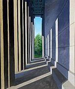 Nashville Park Paintings - Parthenon Shadows by Dillard Adams