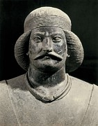 Statue Portrait Metal Prints - Parthian Warrior From Shami. 1st C Metal Print by Everett