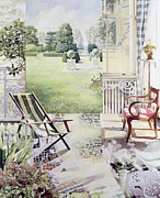 Garden Chair Framed Prints - Partie de Campagne Framed Print by Jeremy Annett