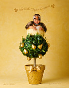 Christmas Photo Prints - Partridge in a Pear Tree Print by Anne Geddes