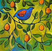 Etsy Posters - Partridge in a Pear Tree Poster by Patty Baker