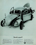Vw Beetle Framed Prints - Parts Framed Print by Benjamin Yeager