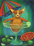 Margarita Paintings - Party Animal  Ay Chihuahua by Debbie McCulley