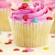 Pink Metal Prints - Party Cake Metal Print by Juli Scalzi
