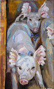 Sorolla Paintings - Party Ears I by Vicki Ross