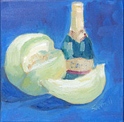 Champagne Painting Originals - Party Fruit Fizz by Sarah Sheffield