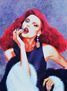 Posh Painting Prints - Party Girl Print by Shirl Theis