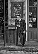 Street Photography Prints - Party Guy monochrome Print by Steve Harrington