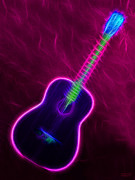 Music Lovers - Party Neon Guitar by Hanza Turgul