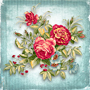 Roses Prints - Party Of Flowers  Print by Mark Ashkenazi