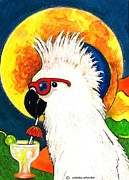Aceo Original Originals - Party Parrot 1 by Melodye Whitaker