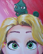 Pan Pascal Framed Prints - Pascal and Rapunzel Framed Print by Lisa Leeman