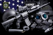 Pasco County Prints - Pasco Sheriff Tactical Print by Gary Yost