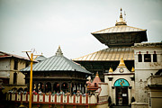 Tibetan Buddhism Prints - Pashupatinath Temple Print by Raimond Klavins
