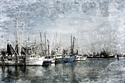 Joan Mccool Metal Prints - Pass Christian Harbor Metal Print by Joan McCool