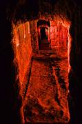 Dungeon Tapestries Textiles - Passage To Hell by Karol  Livote