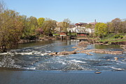 Passaic River Falls Photos - Passaic before Great Falls by David E Freeman