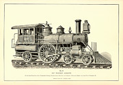 Antique Digital Art Posters - Passenger Locomotive Poster by Gary Grayson