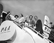 American Airways Photos - Passengers Board PanAm Clipper by Underwood Archives