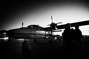 Short Boarding Prints - Passengers Boarding Early Morning Dehaviland Twin Otter Light Aircraft Flight To Grand Canyon At Bou Print by Joe Fox