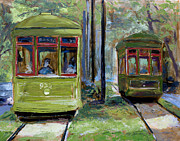 Trolley Paintings - Passing Lovers by Vincent Thibodeaux