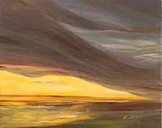 Storm Clouds Paintings - Passing Storm by Lisa Graves