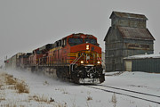 Rack Photos - Passing the Grain Elevator by Ken Smith