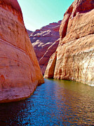 Southern Utah Digital Art Posters - Passing through Narrow Channel to get to Rainbow Bridge- UT Poster by Ruth Hager