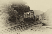 Train Depot Photos - Passing Train by Thomas R Fletcher