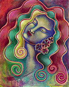 Visionary Artist Painting Prints - Passion Print by Annette Wagner