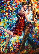 Dancing Girl Framed Prints - Passion Dancing Framed Print by Leonid Afremov