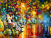 Romantic Night Prints - Passion Evening -  New Print by Leonid Afremov