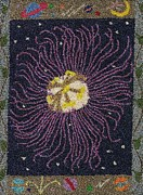 Passion Tapestries - Textiles Prints - Passion Flower Galaxy Print by Jan Schlieper