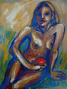 Passion Fruit Paintings - Passion Fruit - Female Nude by Carmen Tyrrell