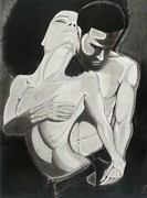 Passion Drawings Originals - Passion In Her Fro by Jewann Hunt