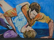 Live Painting Originals - Passion of the Dancers by Esther Newman-Cohen